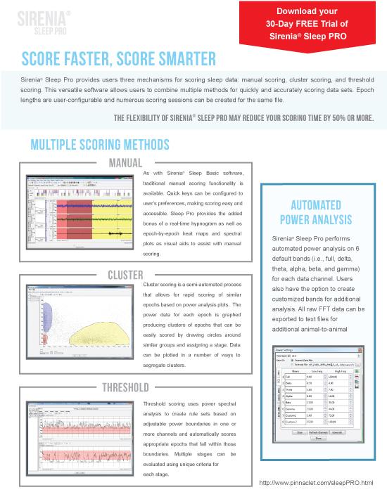 SIRENIA SLEEP PRO SOFTWARE | EEG EMG Software, Sirenia Sleep Pro